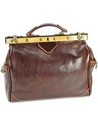"""'Belli® """"Doc Bag Italianos piel bolso marrón–35x 25x 20cm (B X H X T)"""