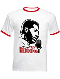 Teesquare1st OTIS REDDING JAZZ Tshirt de hombre con bordes rojos
