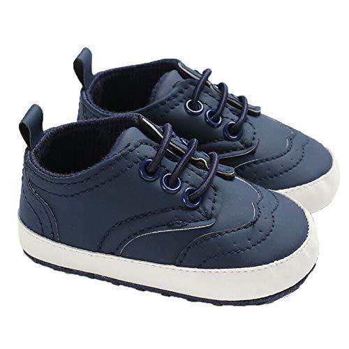 BriskyM Kleinkind Infant Baby Jungen Mädchen Leinwand weiche Sneaker Sohle Krippe Prewalker Schuhe (6-12 Months, Navy blau) Infant Navy Schuhe