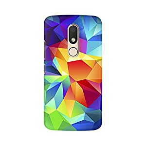 Mobicture Colorful Geometry Premium Printed High Quality Polycarbonate Hard Back Case Cover for Moto M With Edge to Edge Printing