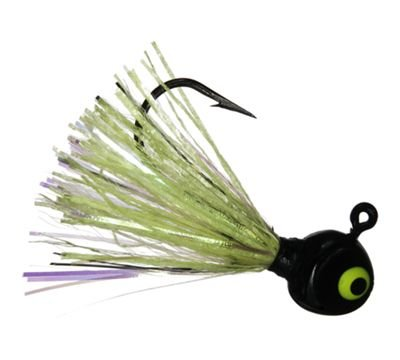Hot Skirt Glow Jig 1/16 Black Chartreuse -