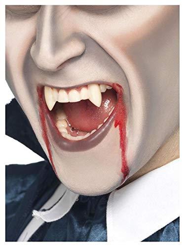 shoperama 2 Vampir Zahn-Kappen zum Aufstecken wiederverwendbar Fangzähne Eckzähne Zähne Dracula Blutsauger Fledermaus Wolf Dämon (Hollywood Motto Kostüm Kinder)