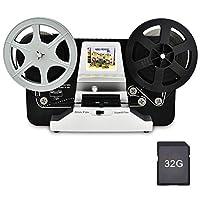 "Moviemaker 8mm Rulo Film ve Super8 Rulo Film Makaraları (5""& 3"") Dijital Video Tarayıcı ve 2.4""LCD Ekranlı Dijital Digitizer, 32 GB SD Kartlı Siyah (Film2Digital MovieMaker)"