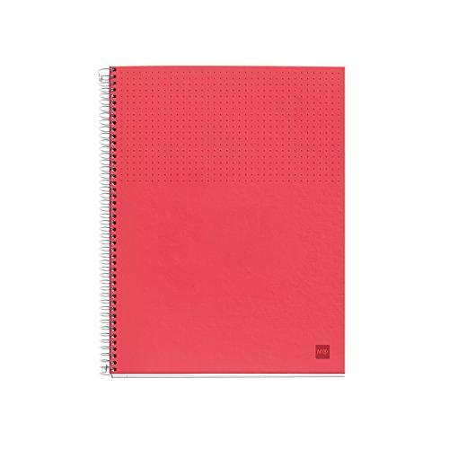 a righe Notebook 6polipropilene Nordic M 90g/m² Miquelrius 46640 DIN A5: 148x 210mm colore: corallo 120fogli