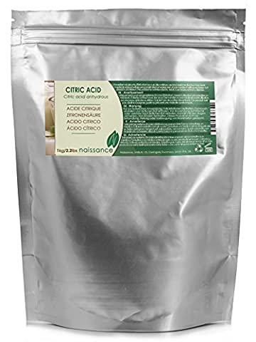 Naissance Citric Acid 1kg 100% Pure