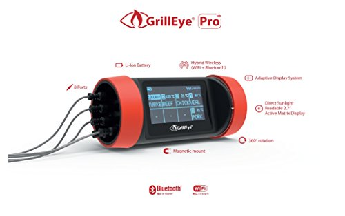 Grill Eye Pro + Wlan und Bluetooth Grill- Thermometer