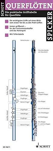 Querflöten-Spicker: Die praktische Grifftabelle für Querflöte. Flöte.