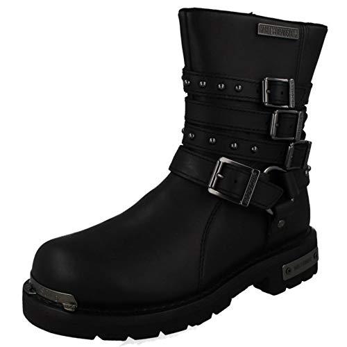 Harley Davidson Womens Eddington Black Leather Boots 38 ()