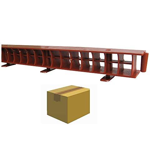 TRAUFELEMENT ohne Kamm, 1,0 m, schwarz / Krt a 100 Stück