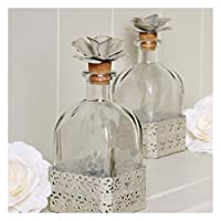Flower Top Glass Bottle Bathroom and Dressing Table Display Bottle