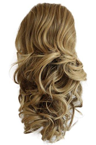 PRETTYSHOP 40cm Haarteil Zopf Pferdeschwanz Haarverdichtung Haarverlängerung VOLUMINÖS 40cm hellbraun mix #6T27 PH212