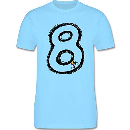 Radsport - Acht Rennrad Endlosschleife - Herren Premium T-Shirt Hellblau