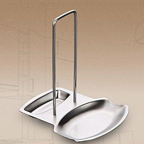 JSGN-Acciaio inossidabile Articoli casalinghi e coperchio Holder, L18.5cm x W15.5cm x H19.5cm