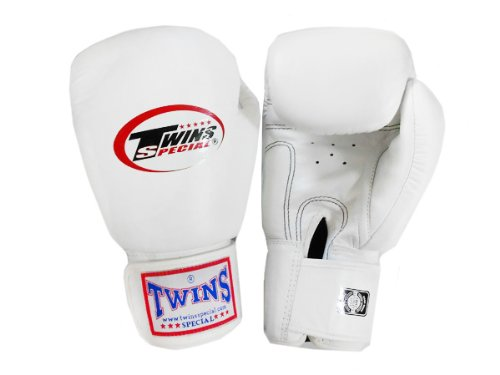 Twins Special Boxing Muay Thai Gloves : White 14 Oz  - Buy
