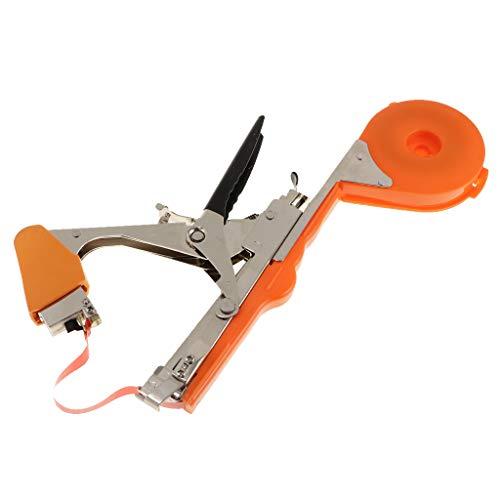 KESOTO Handbindemaschine Bindegeräte Tacker Maschine Zweig Handbinde Garten Gemüse Werkzeug - Orange