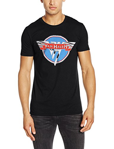 CID Van Halen-Vintage Logo, T-Shirt Uomo, Black, Small
