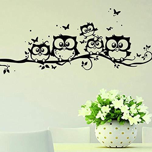 Pegatinas de Pared Mariposas Vinilo Art º Búho Extraíble PVC 55 * 25 cm Decoración del Hogar de Moda Etiqueta Engomada de la Pared Adhesivos de Pared Holatee