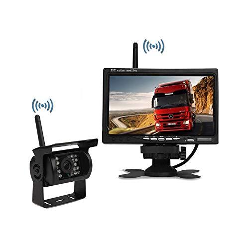 Digitale drahtlose Reversing Kamera Kit-7-Zoll Desktop Wireless Display, IP67 wasserdichte drahtlose Kamera HD Nachtsicht Rückfahrkamera, für LKW, Camping Autos, LKWs, Rvs Desktop-digital-tv
