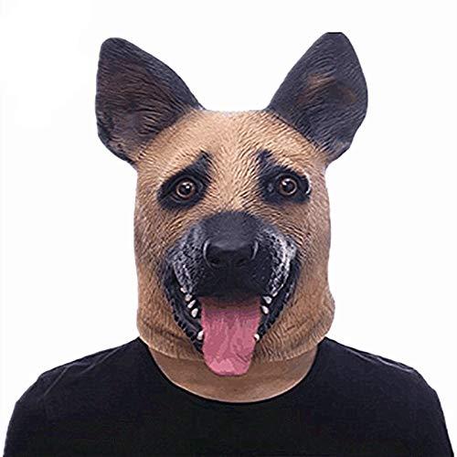 Kreative Halloween Spielzeug Polizeihund Wolf Hund Maske Kopfbedeckung Party Animal Requisiten Erwachsene Größe Lustige Flirt Spielzeug (E-mail-hund Halloween-kostüme Tägliche)