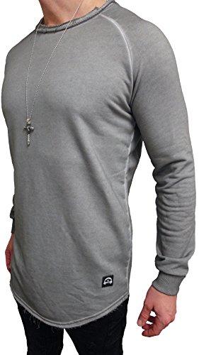 "Oversize Designer Pullover "" WASHED STYLE "" Sweat Jacke long Cardigan Hoody Shirt Herren Hoodie"