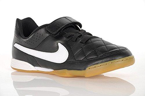 Nike Mädchen Jr Tiempo V4 Ic Turnschuhe Schwarz / Weiß (Schwarz / Weiß-Schwarz)