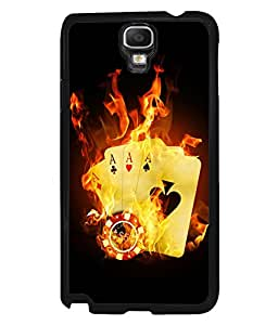 printtech Burning Poker Cards Back Case Cover for Samsung Galaxy Note 3 Neo N7505