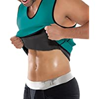 Bluelover Hombres Cuerpo Fitness Deporte Esculpir Chaleco Busto Cintura Ropa Interior - 3XL - Verde