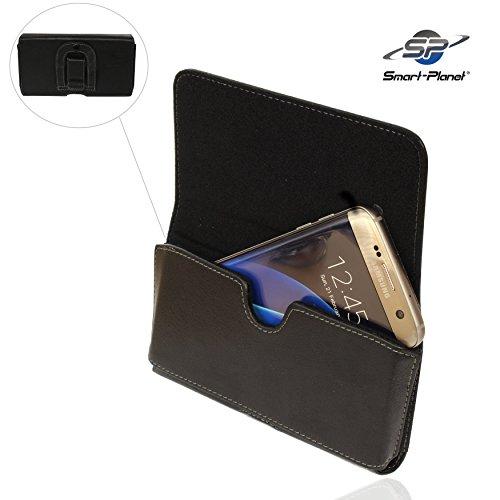 Smart-Planet® Gürteltasche Größe 3XL Quertasche mit Gürtelclip/Kunstleder - Innenabmessung: 14,7 x 7,4 x 1,3 cm für z.B. A5 2016 Galaxy S7 etc