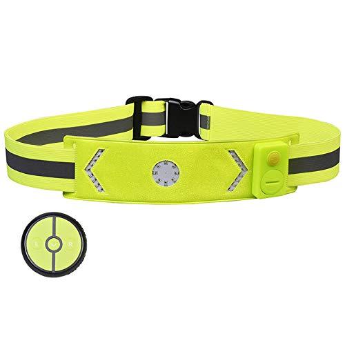 XANES WL03 LED Cycling Waist Belt Band Turn Signal Running Waterproof Outdoor Climbing Reflective Luminous Waistband