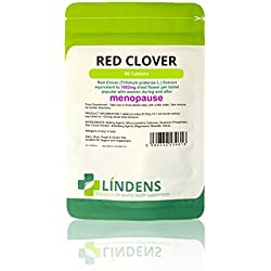 Lindens Rotklee 1000 mg Tabletten | 90 Verpackung | Rotklee (Trifolium Pratense) -Extrakt, entspricht 1000 mg getrockneten Blumen pro Tablette. Beliebt bei Frauen in und nach den Wechseljahren