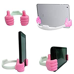 TOTTA Universal OK Desk Stand For Nokia Lumia 900- PINK & WHITE