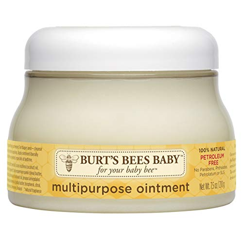 Burt's Bees Baby 100 Prozent Natürliche Mehrzwecksalbe, Babysalbe für Gesicht und Körper, 210 g Tiegel
