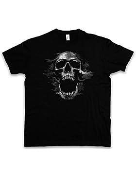 SCREAMING SKULL I T-SHIRT – cranio Dead Tattoo Art Rockabilly Skeleton Roses Artist Flash Death Reaper Bones Oldschool...