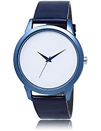 Style Keepers Attractive Stylish Sport Look Blue Dial Stylish Blue Leather Strap Analog Watch For Men & Boys