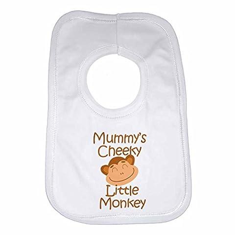 Momie de singe Coquin Little–personnalisée Bavoir Bébé, Enfant pour garçons,