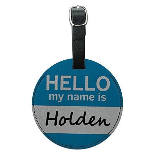 Holden Hello My Name ist rund Leder Gepäck ID Tag Koffer Handgepäck (Leder Holden)
