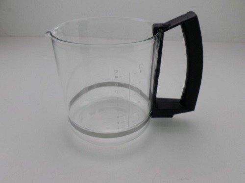 Krups Glaskanne ohne Deckel für T8 F46876, T9 F468 schwarz - Nr.: MS-623057, ersetzt MS-5370138