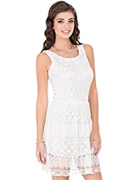 CAY White Printed Pattern Stylish and Comfortable One Piece Woman's Western Wear