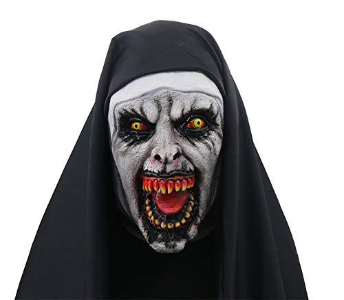 APJJ Halloween Horror Weibliche Gesicht Auferstehung Nonnen Maske ()
