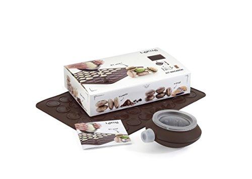 Lékué - Kit para Macarons, Color marrón