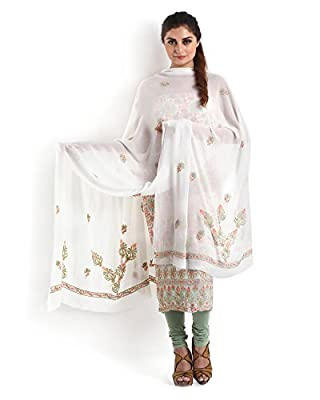 Off-White Pure Georgette Suit with Chikankari