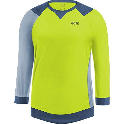 GORE WEAR Gore C5 Femme All Mountain 3/4 Maillot, Citrus Green/Cloudy Blue, FR : L (Taille Fabricant...