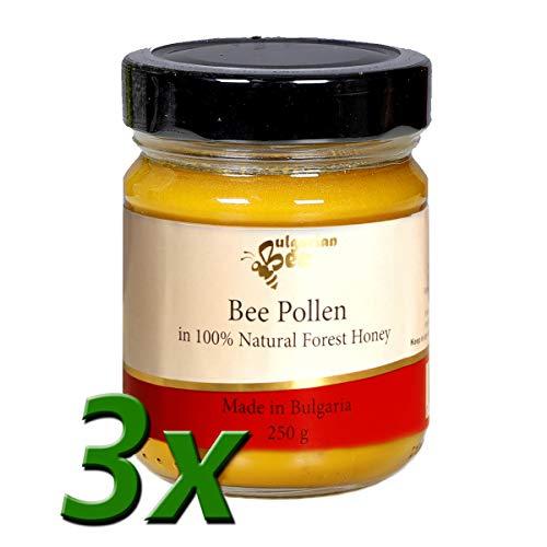Miel con polen de abeja (750 g) - Miel de tilo natural con mezcla de polen de abeja