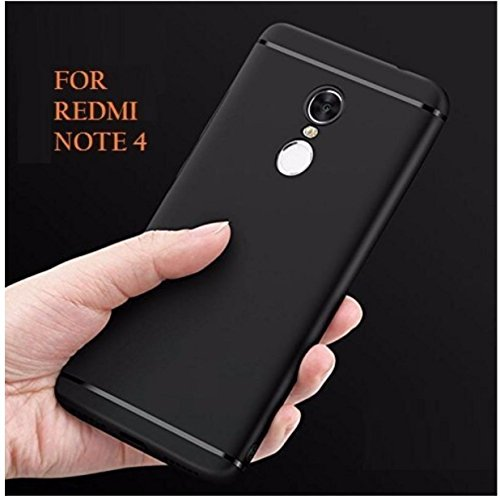 Anjani Style Redmi Note 4 Back Cover (Black, Plastic)