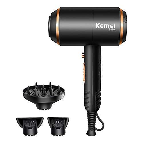 Secador de Pelo iónico, Secador de cabello profesional 4000W, potente, 3 temperaturas, secado rápido...