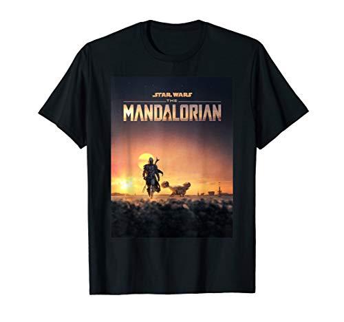 Star Wars The Mandalorian Disney+ Series Poster T-Shirt