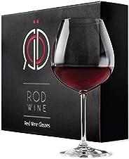 RÖD WINE Bicchieri Vino Rosso - Calici in Cristallo Infrangibili Senza Piombo - Ampia Coppa Ballon e Stelo Lun