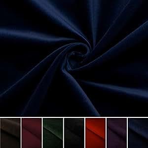 Juwel - velluto di 100% cotone - per decorazioni - abiti medievali - tessuto/stoffa al metro (azzurro marino)