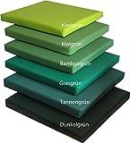 Ideales Sitzkissen Stuhlkissen für Haus und Garten Bankkissen Sitzkissen Sitzpolster Stuhlpolster Dekokissen Kunstleder (grasgrün)