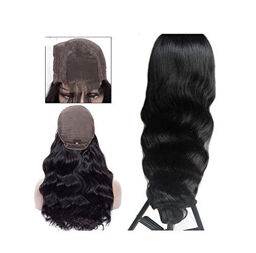 Lace Menschliche Perücken 4X4 Schliessen Lace Perücken Remy brasilianischen Körper-Wellen-Perücke Spitze-Perücke mit Baby-Haar,natürliche Farbe,16Inches